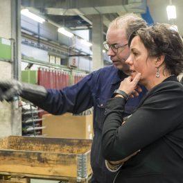 Bezoek van staatssecretaris Van Ark van SZW aan werkbedrijf Rijnvicus (november 2017)